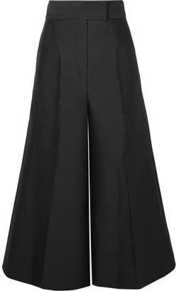 Roksanda Cropped Wool-blend Wide-leg Pants - Black