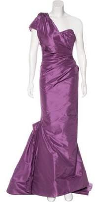 Zac Posen Silk One-Shoulder Gown