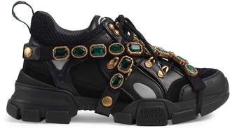 Gucci Women's Flashtrek sneaker with removable crystals
