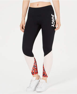 Juicy Couture Colorblocked Graphic Leggings