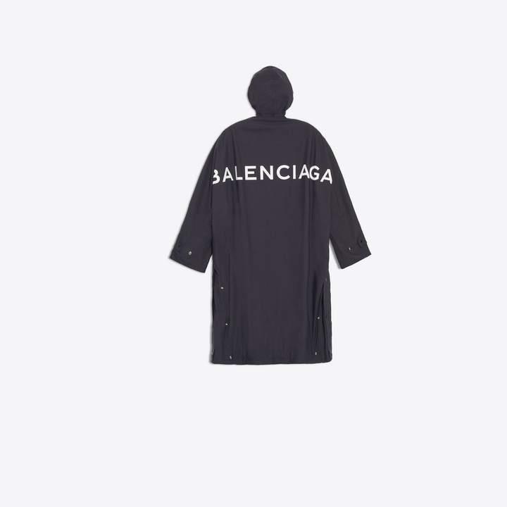 Balenciaga Back Logo Raincoat