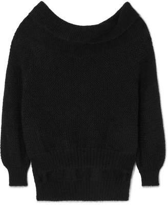 Roland Mouret Jennings Off-the-shoulder Mohair-blend Sweater - Black