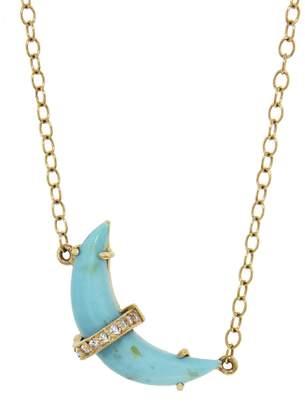 Andrea Fohrman Sleeping Beauty Turquoise Crescent Moon Necklace