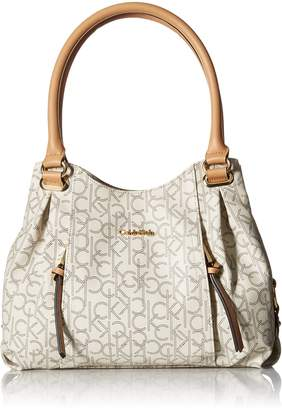 Calvin Klein Monogram Shopper Shoulder Bag