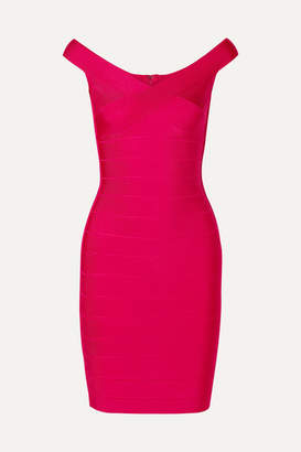 Herve Leger Bandage Mini Dress - Bright pink