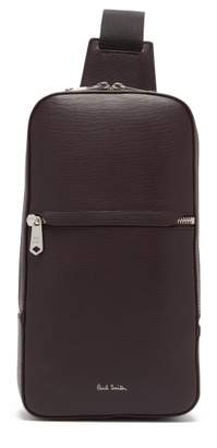 Paul Smith Textured Leather Cross Body Bag - Mens - Burgundy