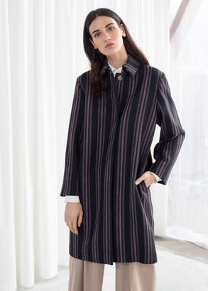 And other stories Wool Blend Striped Coat