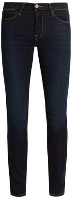 Frame - Edgeware High Rise Skinny Jeans - Womens - Indigo