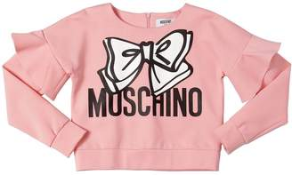 Moschino Bow Printed Milano Jersey Sweatshirt