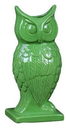 Benzara Owl Figurine Vase in Green