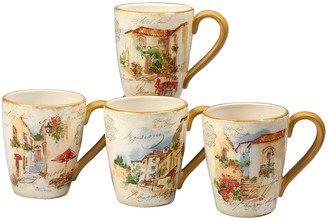 Certified International Piazette 4-piece Mug Set