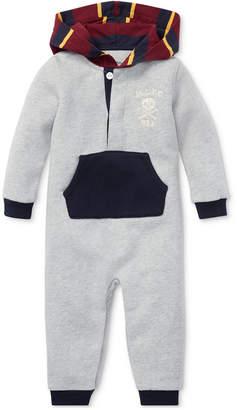 Polo Ralph Lauren Baby Boys Contrast Fleece Coverall