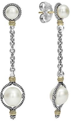Women's Lagos Luna Pearl Drop Earrings $695 thestylecure.com