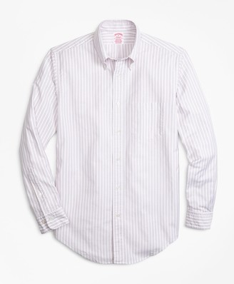 Brooks Brothers Madison Fit Oxford Outline Stripe Sport Shirt