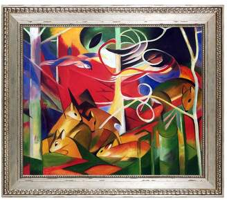 Overstock Art Deer in the Forest by Franz Marc (Framed Canvas)