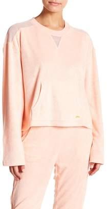C&C California Mesh Inset Cropped Pullover