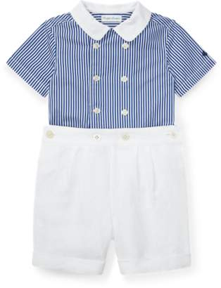 Ralph Lauren Striped Shirt and Short Set