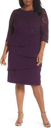 Alex Evenings Lace Bodice Shift Dress