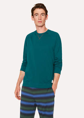 Paul Smith Men's Teal Jersey Cotton Long-Sleeve Top