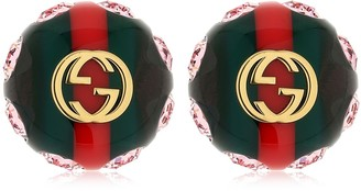 Gucci Logo Stud Earrings