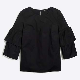 J.Crew Factory Tiered bell-sleeve top