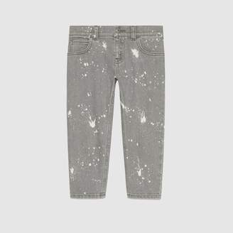 Gucci Children's washed denim pant