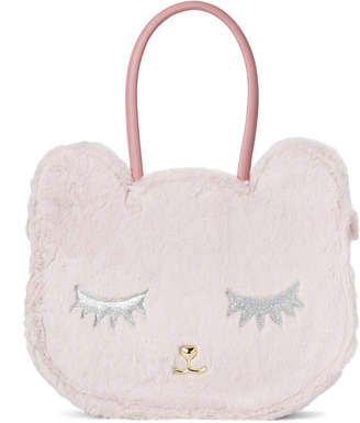 Betsey Johnson Luv Betsey By Pink Kitsch Faux Fur Cat Tote