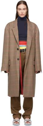 BEIGE Ambush Long Check Suit Coat