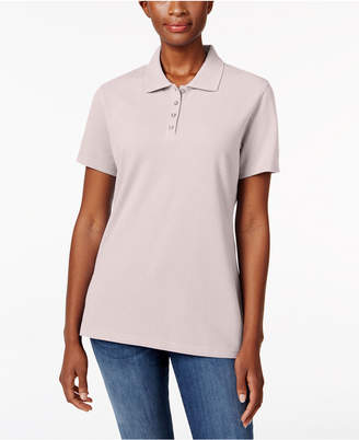 Karen Scott Short-Sleeve Polo Top, Only at Macy's $9.98 thestylecure.com