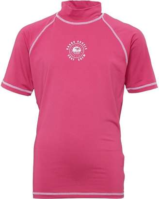 Board Angels Girls Rash Vest Pink