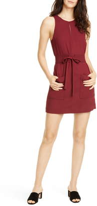 Joie Puck Tie Belt Sleeveless Minidress