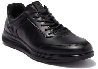 Ecco Aquet Black Leather Santiago Sneaker