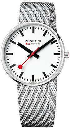 Mondaine Unisex-Adult Quartz Watch, Analogue Classic Display and Stainless Steel Strap MSX.4211B.SM