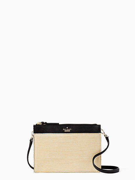 Kate Spade Cameron street straw clarise - NATURAL/BLACK - STYLE