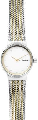 Skagen Freja Gold-Tone Detail Watch, 26mm