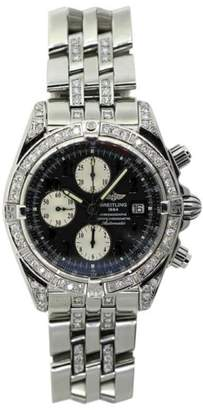 Breitling Chronographe Stainless Steel & Diamond Mens Watch