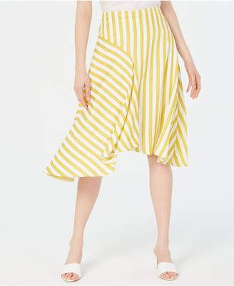 978a2bea7a Yellow And White Stripe Skirt - ShopStyle