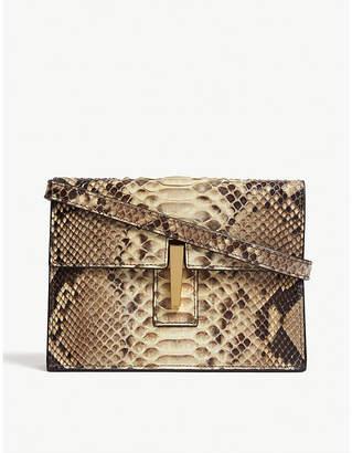 Hayward Python leather mini clutch