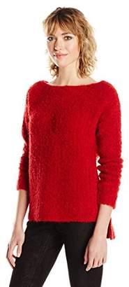 ATM Anthony Thomas Melillo Women's Cozy Open Neck Pullover