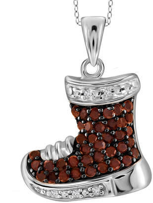 FINE JEWELRY 1/7 CT. T.W. Color-Enhanced Red Diamond Sterling Silver Shoe Pendant