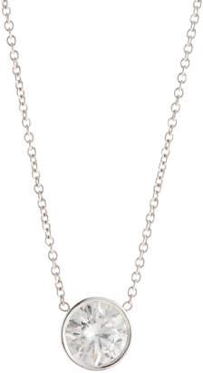 Diana M. Jewels 18k Round Diamond Pendant Necklace