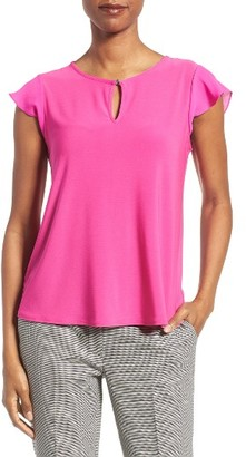 Women's Cece Flutter Sleeve Top $49 thestylecure.com