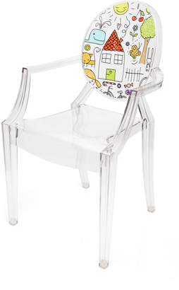 Kartell Kids Lou Lou Ghost Crystal Drawing Chair