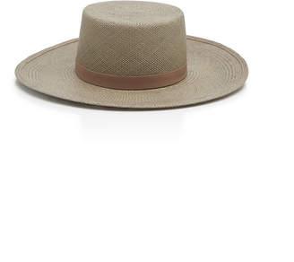 Janessa Leone Rena Straw Boater Hat Size: S