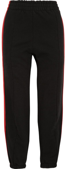 Vetements - Striped Cotton-blend Jersey Sweatpants - Red