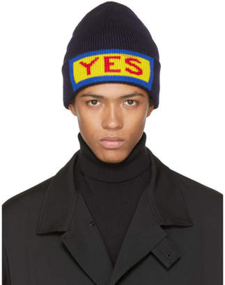 Fendi Navy Yes Beanie