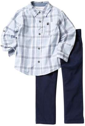 64641e6e1 Calvin Klein Checkered Long Sleeve Shirt & Pants Set (Toddler Boys)