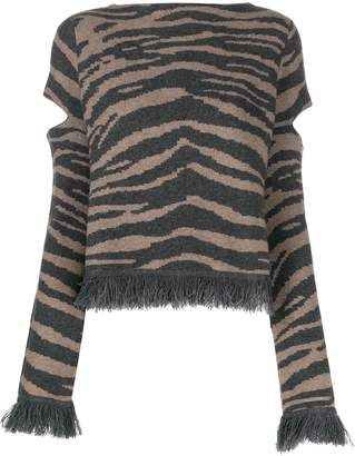 Zoe Jordan zebra print jumper