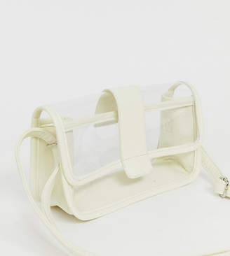 clear My Accessories London Exclusive panelled camera bag with cream trim