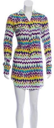 Haute Hippie Silk Mini Shirtdress